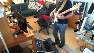 Moog Taurus 1 Bass pedals & Vintage 1963 Rickenbacker 4001 on a Genesis excerpt from track Undertow