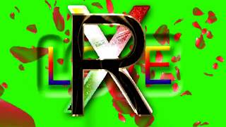 R Love X Letter Green Screen For WhatsApp Status | R & X Love,Effects chroma key Animated Video