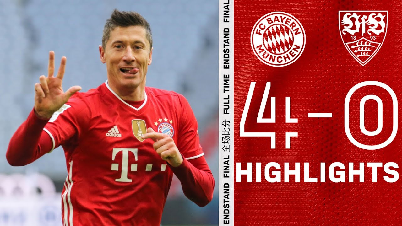 One man down, four goals up & hattrick man Lewandowski | Highlights FC Bayern vs. VfB Stuttgart 4-0