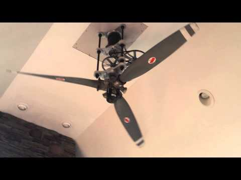 Dudes 8ft diameter airplane propeller ceiling fan - YouTube
