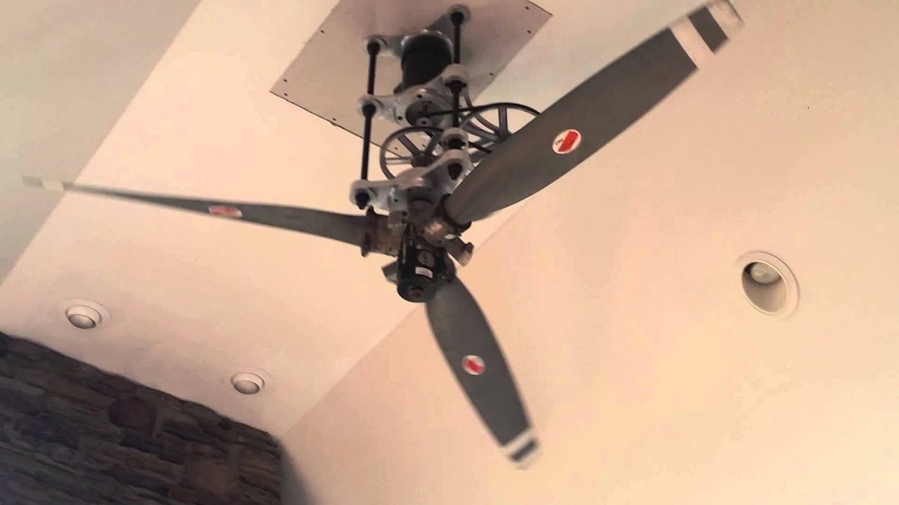 Dudes 8ft Diameter Airplane Propeller Ceiling Fan Youtube