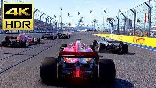[4K HDR] F1 2018 - (FERRARI) Russia Sochi Autodrom Gameplay (PS4 Pro) @ 60ᶠᵖˢ UHD ✔