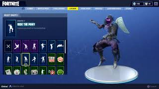 Fortnite Raven Skin Doing all My Emotes - Danses!