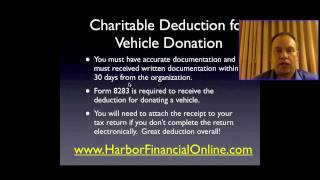 Donate a Vehicle to Charity Tax Deduction 2012, 2013