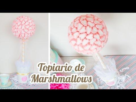 Mesa De Dulce De Baby Shower.Topiario De Marshmallows Corazon 10 Mesa Dulce Para Baby