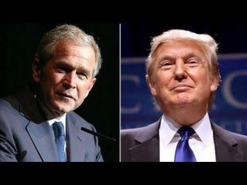 Donald Trump and George W. Bush