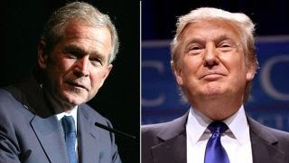Donald Trump and George W. Bush