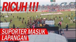 RICUH, Laga Persela Vs Perseru Badak Lampung FC Dihentikan