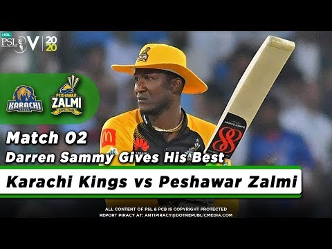 Darren Sammy Batting Highlights   Karachi Kings Vs Peshawar Zalmi   Match 2   HBL PSL 5   2020