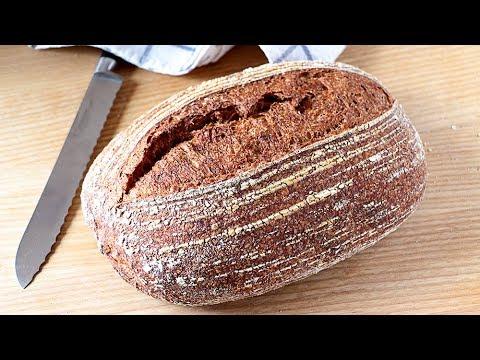 Este PAN lleva solo HARINA, AGUA, SAL - Pan integral SIN LEVADURA comercial hecho con masa madre