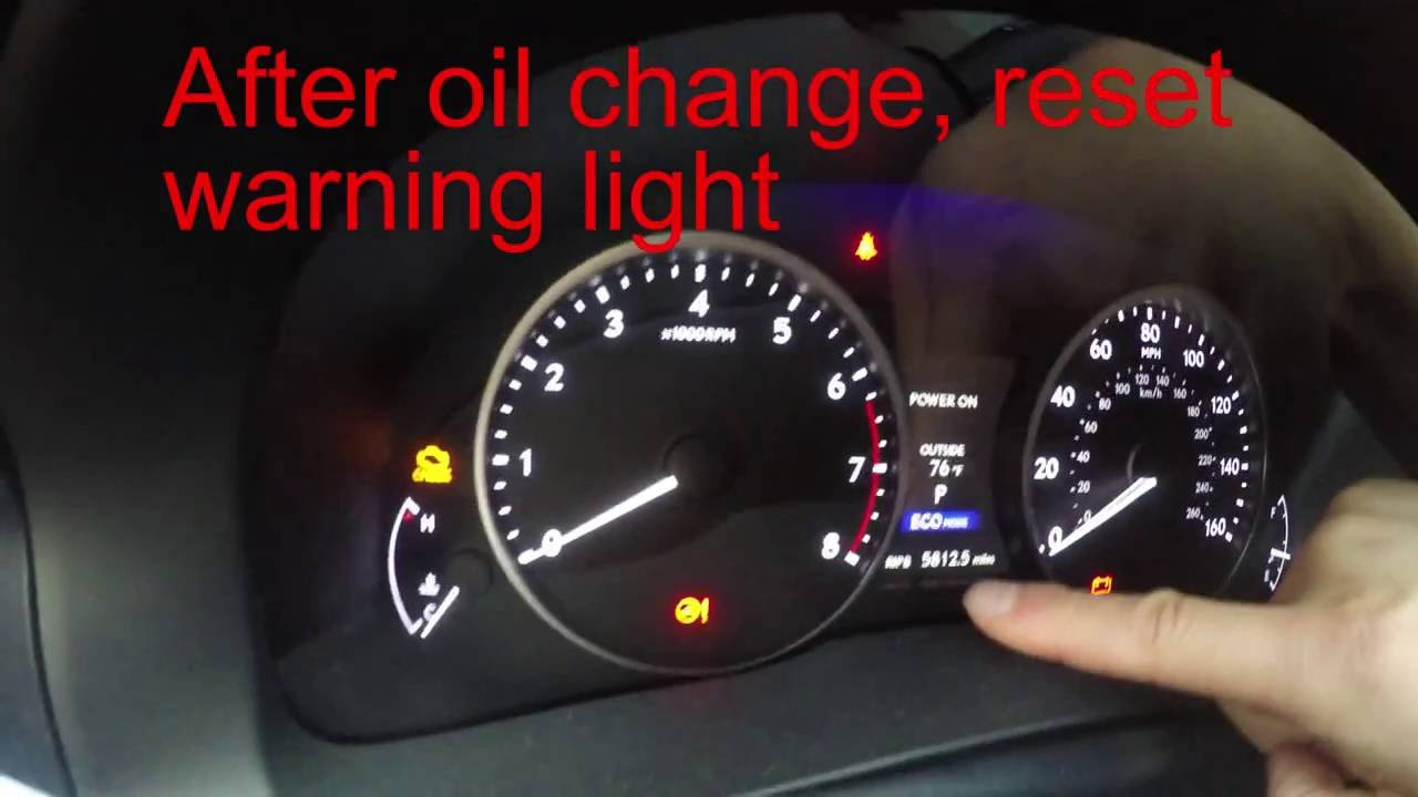 Reset Maintenance Required Light Lexus Es350 2014 Youtube