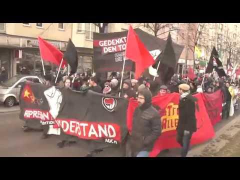"""Hinter dem Faschismus steht das Kapital!"" - Luxemburg-Liebknecht-Demonstration, Berlin (14.1.2018)"