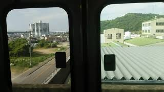 【側面展望】JR四国 瀬戸大橋線 高松行5000系快速マリンライナー 坂出駅前信号抑止から坂出到着