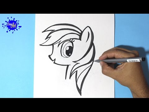 How to draw my little pony / Como dibujar a Rainbow Dash 3 / How to ...