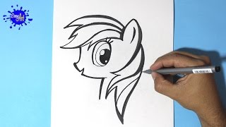 How to draw my little pony / Como dibujar a Rainbow Dash 3 / How to draw Rainbow Dash