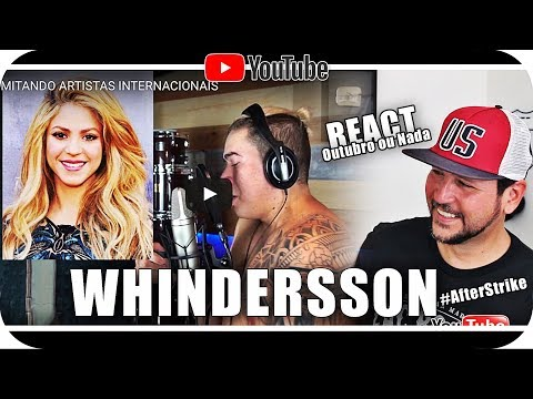 WHINDERSSON NUNES IMITANDO Shakira Zayn Selena e mais React Reação