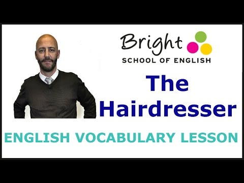 The Hairdresser - English Vocabulary Lesson - Bright School