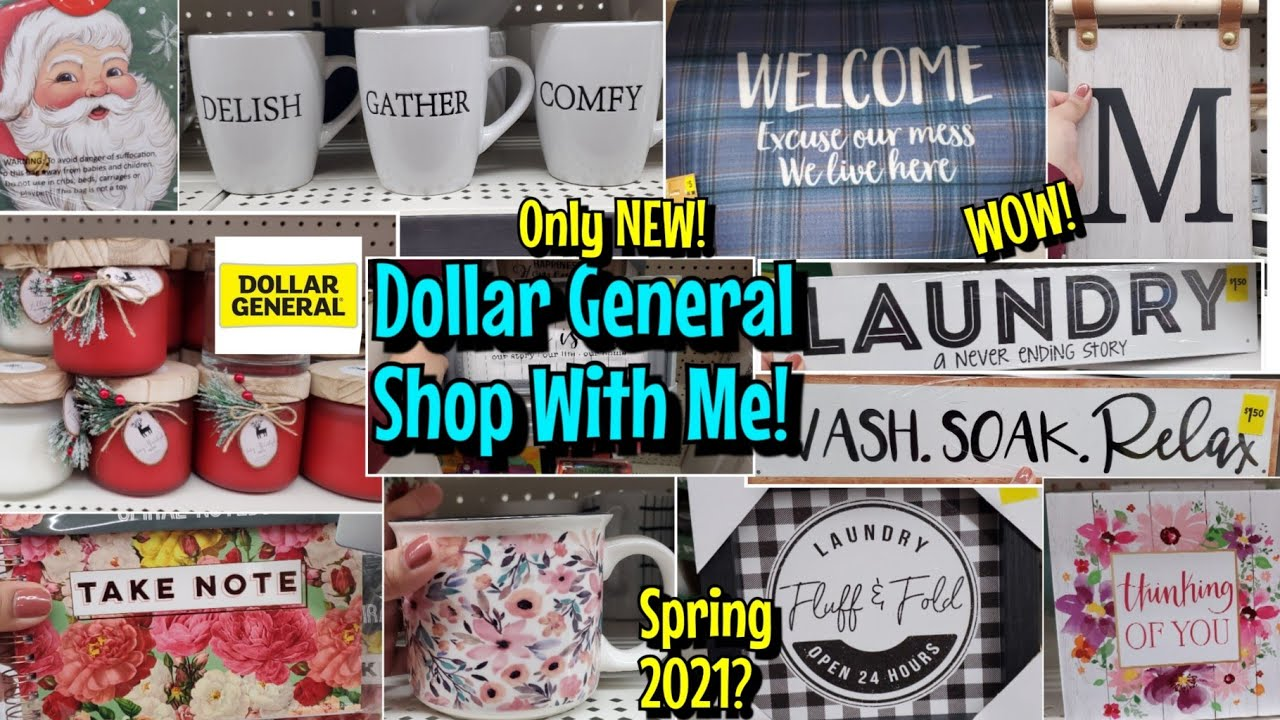 Is Dollar General Open On Christmas 2021 Omg New Dollar General Shop With Me Spring 2021 New Christmas 2020 Home Decor More Youtube
