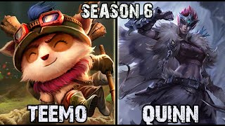 Best Teemo Korea vs Quinn TOP Ranked Challenger