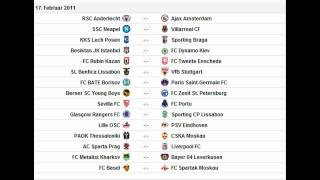 UEFA Europa League Draw elimination Round