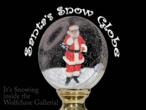Santa  Snow  Globe, Simon Malls, Memphis TN