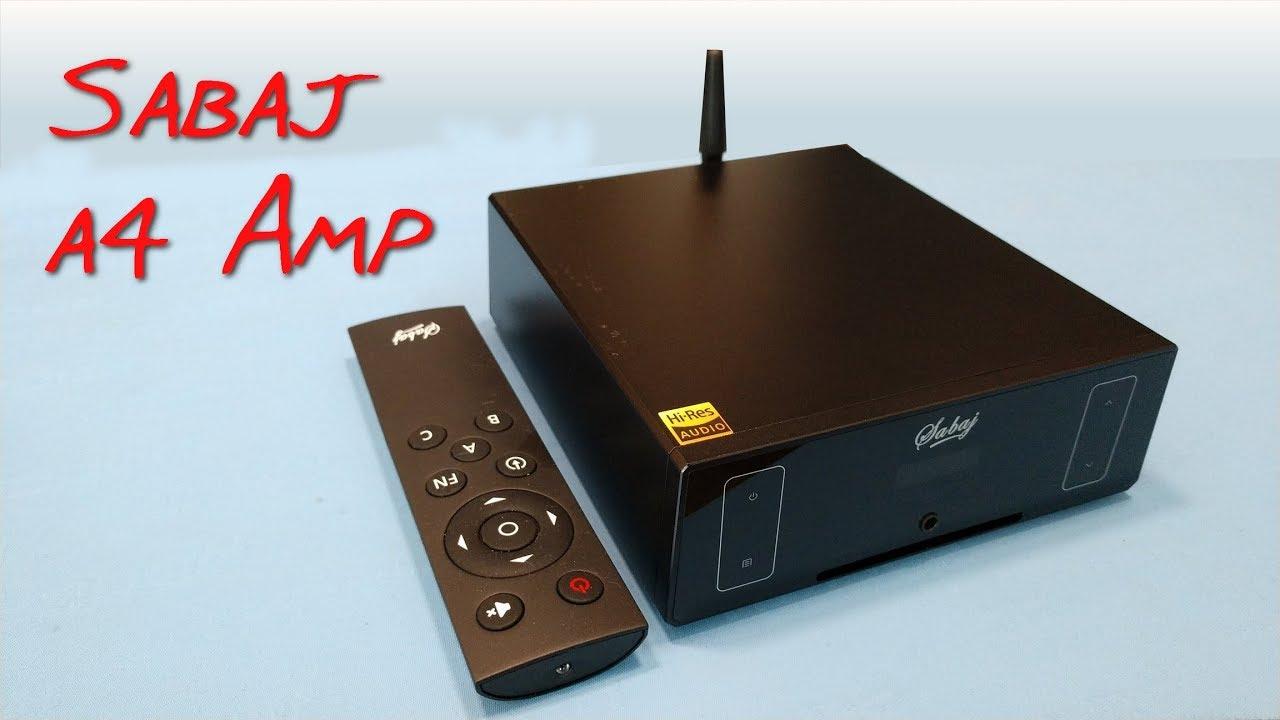 sabaj  Z Review - Sabaj A4 Desktop Amp (Remote, BT, DAC) - YouTube