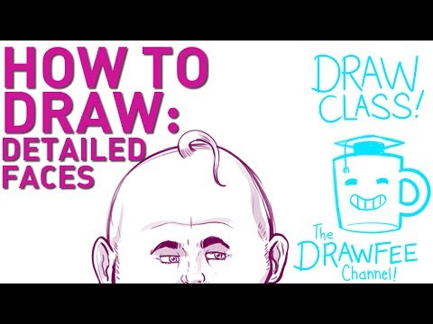 how to draw a detailed face