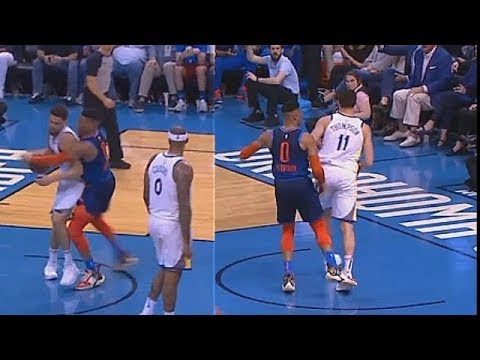 Russell Westbrook Gets Aggressive With Klay Thompson After No-Call Foul & Faces Suspension!