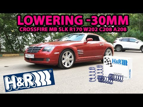 Lowering springs install H&R -30mm Crossfire MB SLK R170 W202 C208 A208