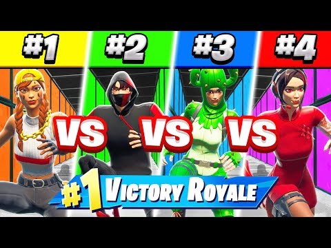 Can YOU win this 4 man DEATHRUN (Fortnite)