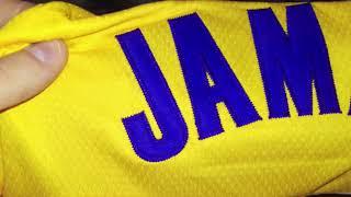 Баскетбольная форма NBA Los Angeles Lakers №23 Lebron James yellow магазин Basket Family