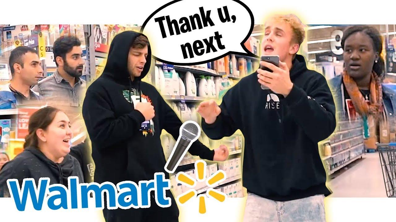 "WE SANG ""Thank you, next"" ON THE INTERCOM AT WALMART!! (KICKED OUT)"