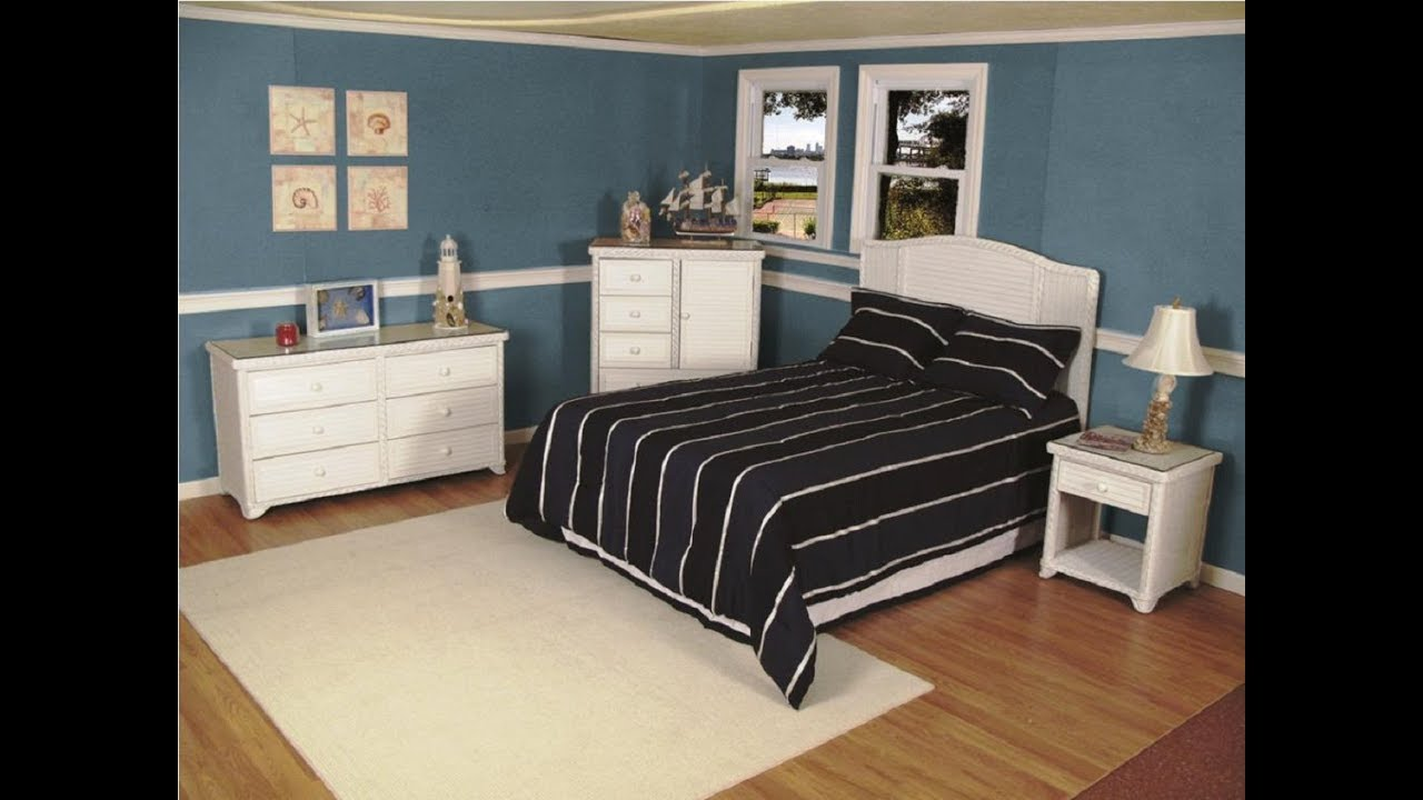 White Wicker Bedroom Furniture - YouTube