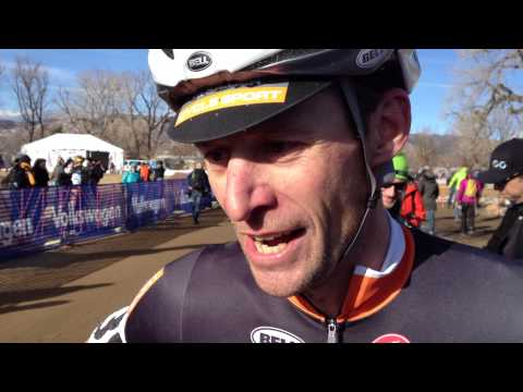 Peter Webber talks after winning the 2014 USA Cycling Cyclocross National Championships