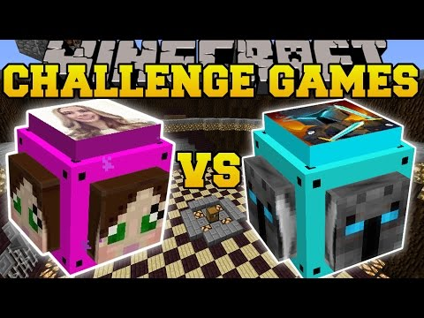 Thumbnail: Minecraft: POPULARMMOS VS GAMINGWITHJEN CHALLENGE GAMES - Lucky Block Mod - Modded Mini-Game