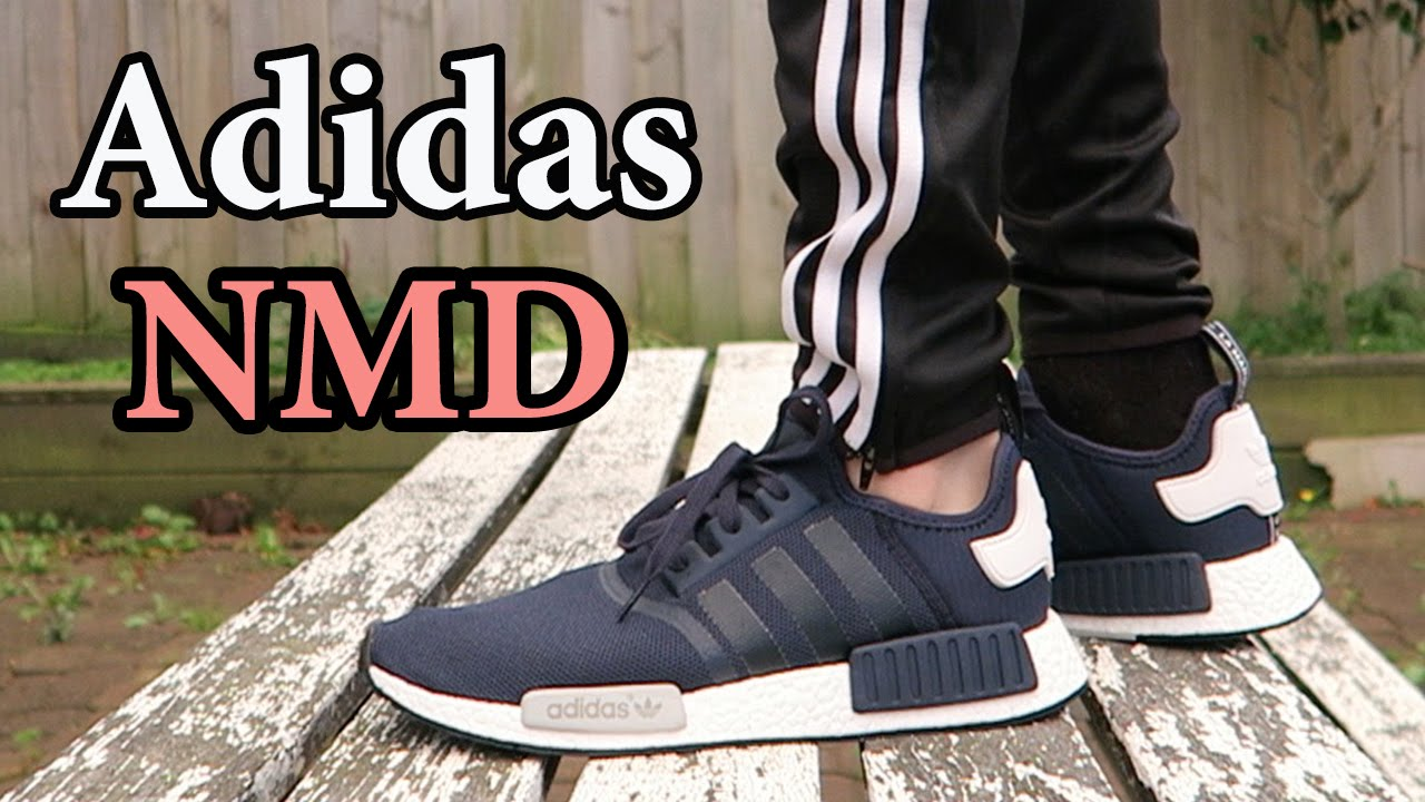 new styles 4fff5 fdde1 Adidas NMD Runner (Navy) Close up & ON FEET w/ different pants