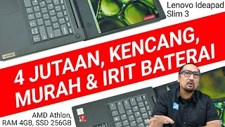 Laptop Murah, Performa OK, Irit Baterai: Review IdeaPad Slim 3 AMD Athlon Silver