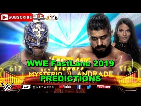 WWE FastLane 2019 Rey Mysterio Vs  Andrade Kickoff Match Predictions WWE 2K19