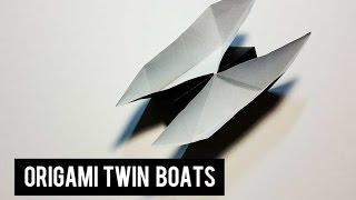 Let's Make The Origami Twin Boats ( Traditional )