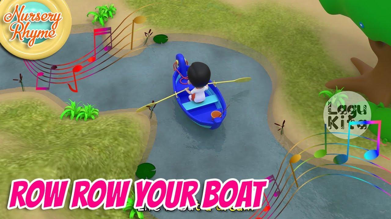 ROW ROW ROW YOUR BOAT - 3D | Nursery Rhyme | Lagu Anak Channel