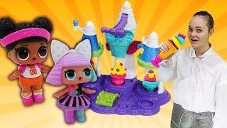 Фото Куклы ЛОЛ на фабрике мороженого. Видео для девочек Будет исполнено.