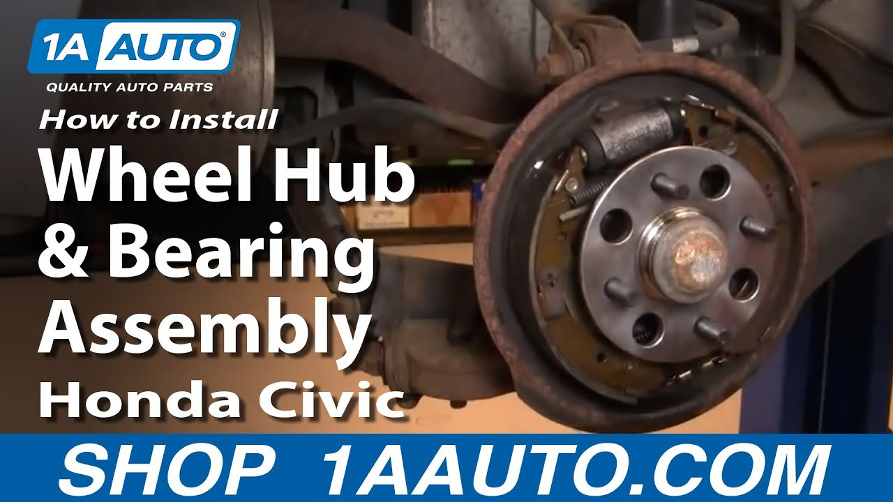 how to replace wheel bearing hub assembly 01 05 honda civic [ 1280 x 720 Pixel ]