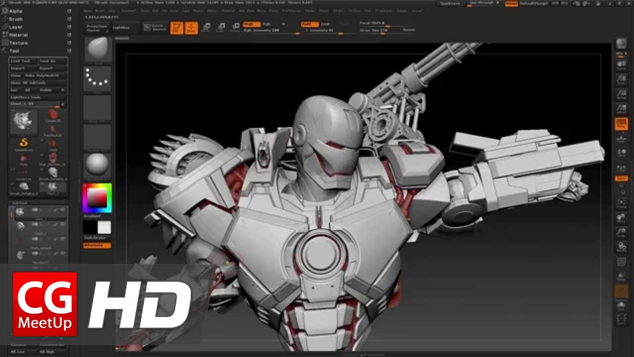 Cgi 3d tutorial hd war machine zbrush tutorial by joe Create 3d model online free