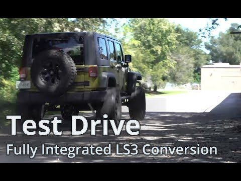 Test Drive - JK Wrangler With Turnkey 450Hp LS3 Fully Integrated Engine Conversion