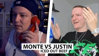Justin reagiert auf Monte vs. Justin Beef (Iced Out 💎) | Reaktion