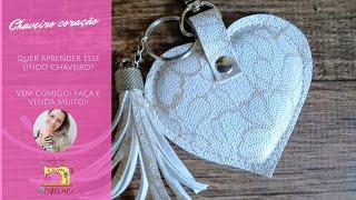 Chaveiro de coração – Faça e venda