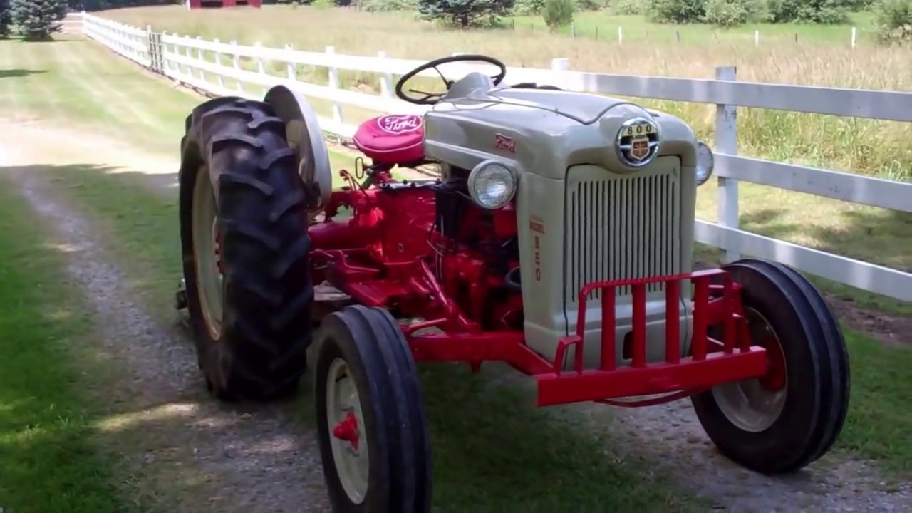 small resolution of 1957 ford 800 850 model with power steering restored