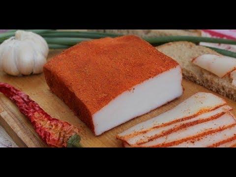 Как сделать сало шпик в домашних условиях с красным перцем