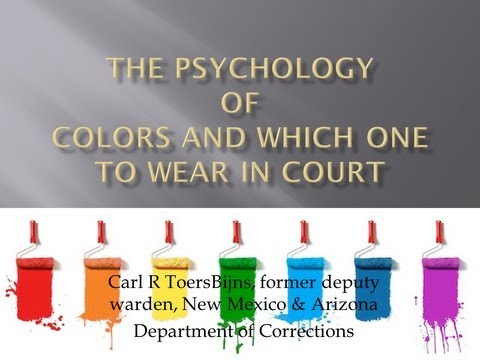 Wearing the Right Colors to Court - Do attorneys do this?