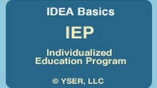 IDEA Basics: IEP Individualized Education Program thumbnail